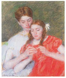 thumbnail Mary Cassatt – The Crochet Lesson [from Mary Cassatt Retrospective]