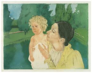 メアリー・カサット – 池の畔で [メアリー・カサット展 図録より]のサムネイル画像