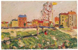 ワシリー・カンディンスキー – シュヴァービング 郊外の家並I [カンディンスキー展より]のサムネイル画像