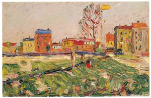thumbnail Wassily Kandinsky – Schwabing — Suburban Houses I [from KANDINSKY]