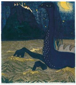 ワシリー・カンディンスキー – 月夜 [カンディンスキー展より]のサムネイル画像
