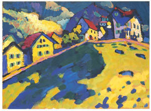 ワシリー・カンディンスキー – <ムルナウの家並み>ための習作 [カンディンスキー展より]のサムネイル画像
