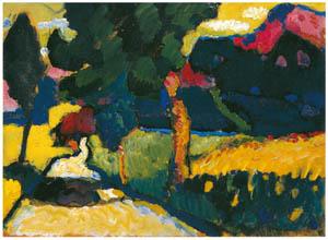 thumbnail Wassily Kandinsky – Summer Landscape — Murnau [from KANDINSKY]