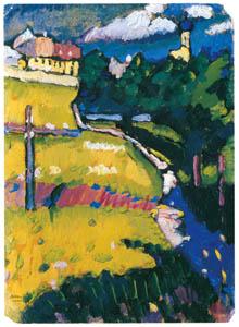 ワシリー・カンディンスキー – ムルナウ – 教会のある風景 [カンディンスキー展より]のサムネイル画像