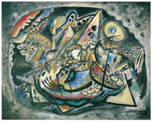 ワシリー・カンディンスキー – 灰色の楕円 [カンディンスキー展より]のサムネイル画像