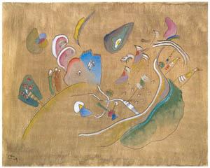 ワシリー・カンディンスキー – 茶色の地の上のコンポジション [カンディンスキー展より]のサムネイル画像