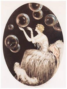 ルイ・イカール – シャボン玉 [アール・デコの華 Louis Icartより]のサムネイル画像