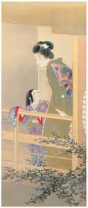 上村松園 – 姉妹之図 [上村松園展 没後50年記念 美の精華より]のサムネイル画像