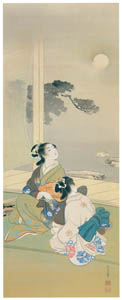 thumbnail Uemura Shōen – Women Sing under the Moon [from Uemura Shōen Exhibition on the 50th Anniversary of Her Death]