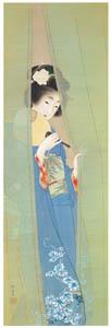 上村松園 – むしの音図 [上村松園展 没後50年記念 美の精華より]のサムネイル画像