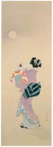 上村松園 – 夏の宵図 [上村松園展 没後50年記念 美の精華より]のサムネイル画像