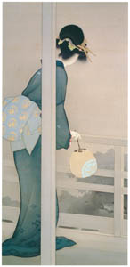thumbnail Uemura Shōen – Waiting for the Moon [from Uemura Shōen Exhibition on the 50th Anniversary of Her Death]
