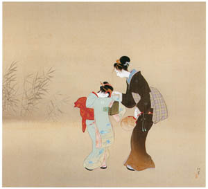 thumbnail Uemura Shōen – Fireflies [from Uemura Shōen Exhibition on the 50th Anniversary of Her Death]