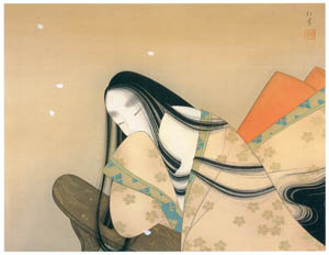 thumbnail Uemura Shōen – Ono no Komachi [from Uemura Shōen Exhibition on the 50th Anniversary of Her Death]