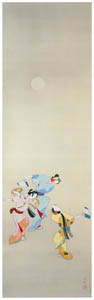 thumbnail Uemura Shōen – Dancing Under the Moon [from Uemura Shōen Exhibition on the 50th Anniversary of Her Death]