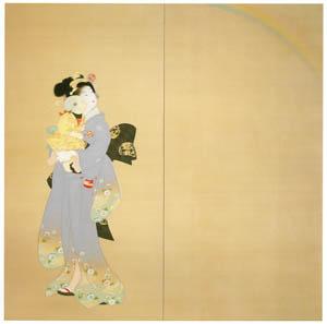 上村松園 – 虹を見る (右) [上村松園展 没後50年記念 美の精華より]のサムネイル画像