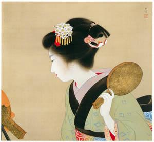 thumbnail Uemura Shōen – Coiffure (Oshidori-mage) [from Uemura Shōen Exhibition on the 50th Anniversary of Her Death]