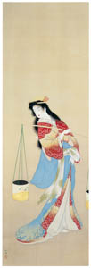 thumbnail Uemura Shōen – The Dance of the Beach Maiden [from Uemura Shōen Exhibition on the 50th Anniversary of Her Death]
