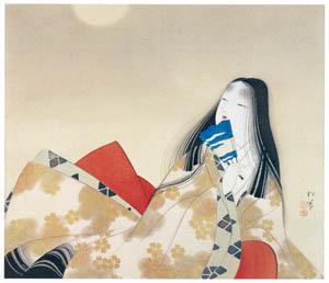 上村松園 – 月下佳人 [上村松園展 没後50年記念 美の精華より]のサムネイル画像