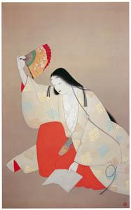 上村松園 – 小野小町図 [上村松園展 没後50年記念 美の精華より]のサムネイル画像
