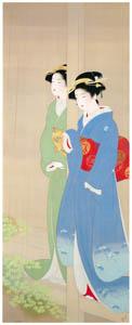 上村松園 – 砧 [上村松園展 没後50年記念 美の精華より]のサムネイル画像
