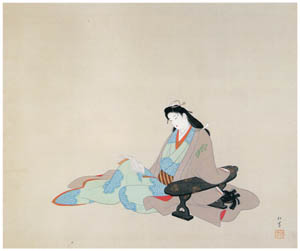thumbnail Uemura Shōen – Woman Reading a Book [from Uemura Shōen Exhibition on the 50th Anniversary of Her Death]