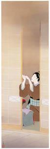 上村松園 – 夕ぐれ [上村松園展 没後50年記念 美の精華より]のサムネイル画像