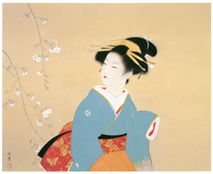 thumbnail Uemura Shōen – Cherry Blossom Viewing [from Uemura Shōen Exhibition on the 50th Anniversary of Her Death]