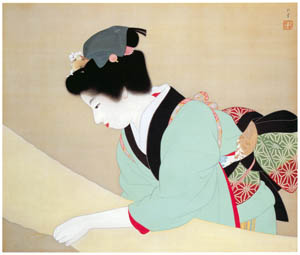 thumbnail Uemura Shōen – A Fine Day [from Uemura Shōen Exhibition on the 50th Anniversary of Her Death]