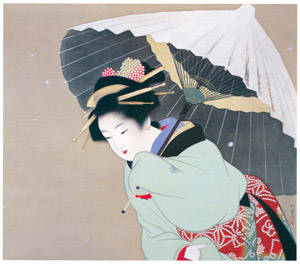 thumbnail Uemura Shōen – The First Snow of the Year [from Uemura Shōen Exhibition on the 50th Anniversary of Her Death]