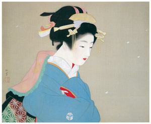 thumbnail Uemura Shōen – Snow in the Garden [from Uemura Shōen Exhibition on the 50th Anniversary of Her Death]
