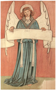 ウィリアム・モリス – 天使と巻物 [William Morris Full-Color Patterns and Designsより]のサムネイル画像