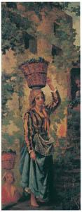 thumbnail Kiyohara Tama – A Girl Picking Grapes [from Tama Eleonora Ragusa]
