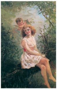 ラグーザ玉 – 少女と天使 [図録 ラグーザ玉展より]のサムネイル画像