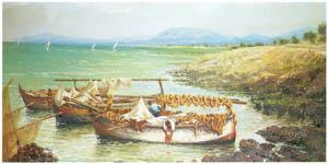 ラグーザ玉 – パレルモの渚の舟 [図録 ラグーザ玉展より]のサムネイル画像