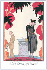 thumbnail George Barbier – La Cadran Solaire [from BARBIER COLLECTION I FASHION CALENDAR 1922-1926]