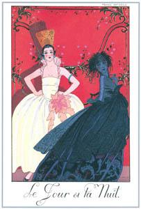 thumbnail George Barbier – Le Jour et La Nuit [from BARBIER COLLECTION I FASHION CALENDAR 1922-1926]