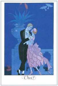 thumbnail George Barbier – Oui! [from BARBIER COLLECTION I FASHION CALENDAR 1922-1926]