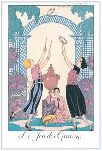 ジョルジュ・バルビエ – 輪投げ遊び [バルビエ・コレクション I FASHION CALENDAR 1922-1926より]のサムネイル画像