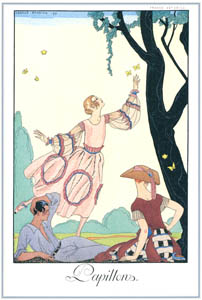thumbnail George Barbier – Papillons [from BARBIER COLLECTION I FASHION CALENDAR 1922-1926]