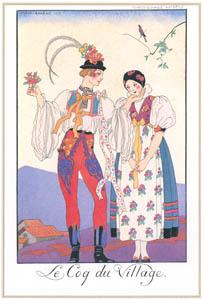 ジョルジュ・バルビエ – 村の雄鶏 [バルビエ・コレクション I FASHION CALENDAR 1922-1926より]のサムネイル画像