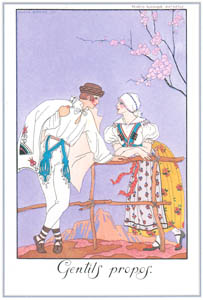 thumbnail George Barbier – Gentils Propos [from BARBIER COLLECTION I FASHION CALENDAR 1922-1926]