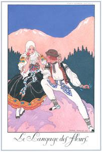 ジョルジュ・バルビエ – 花言葉 [バルビエ・コレクション I FASHION CALENDAR 1922-1926より]のサムネイル画像