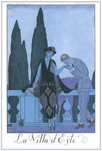 thumbnail George Barbier – La Villa d'Este [from BARBIER COLLECTION I FASHION CALENDAR 1922-1926]