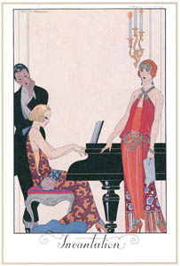 thumbnail George Barbier – Incantation [from BARBIER COLLECTION I FASHION CALENDAR 1922-1926]
