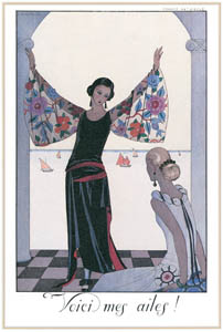 thumbnail George Barbier – Voici mes Ailes! [from BARBIER COLLECTION I FASHION CALENDAR 1922-1926]