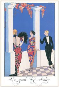 thumbnail George Barbier – Le Gout des Chales [from BARBIER COLLECTION I FASHION CALENDAR 1922-1926]