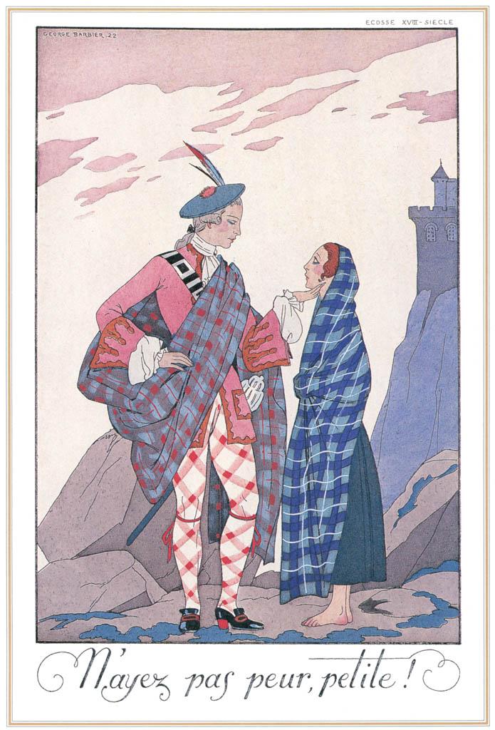 ジョルジュ・バルビエ – 怖がらないで、小柄な人 [バルビエ・コレクション I FASHION CALENDAR 1922-1926より] パブリックドメイン画像