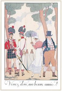 ジョルジュ・バルビエ – さあ、我が良き友よ!  [バルビエ・コレクション I FASHION CALENDAR 1922-1926より]のサムネイル画像