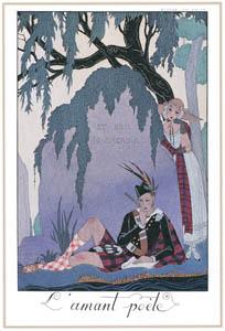 ジョルジュ・バルビエ – 詩人 の恋人 [バルビエ・コレクション I FASHION CALENDAR 1922-1926より]のサムネイル画像